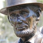 Abraham Lincoln statue, life size.
