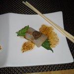 Yellowtail with Foie gras & Truffles