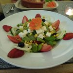 Fabulous Feta and Broad Bean Salad available as a starter or a main...YUM !!!