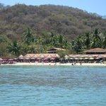 Beautiful Las Gatas beach and Otilla's Restaurant