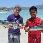 Dorados with Julio's son in Zihua Bay