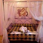 la camera da letto molto molto romantica...