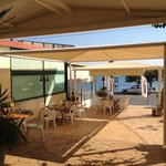 Our terrace just before the divers arrive back!