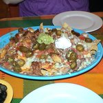 Nachos with olives on the side