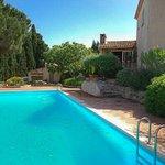 La piscine de Lou Spirou entourée d'arbres (pool surrounded by trees)