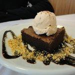 Brownies con gelato alla nocciola