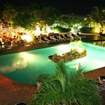 Sapphire Beach Club's Pool at night