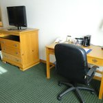 Work desk and LCD TV
