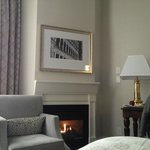 7th floor room with fireplace