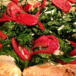Our Florentine PizzA with garden fresh toppers!