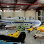 One of the hangars with vintage aircraft of every era