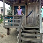 Sherry, the Owner in front of one of the Cabanas