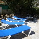 The sun bathing area