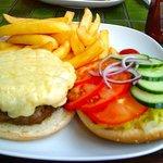 Homemade angus burger