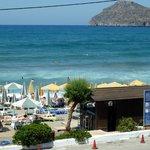 The hotel beach area