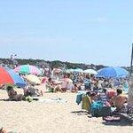 Mid July Beach scene
