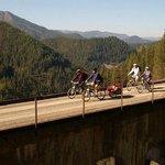 World famouse Hiawatha Bike trail