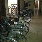 Zona bicicletas del hotel
