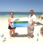 picture with our flag