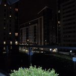 View from balcony bar at the rear of the hotel