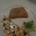 Le marbré de ris de veau et foie gras de canard aux pistaches