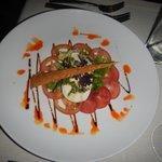 Tomato salad in La Terraza