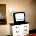 The TV is small