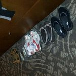 housekeeping arranged my shoes :)