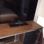 LCD TV, Fridge, Microwave