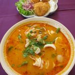 tom yum goong noodle soup