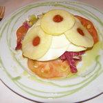 tomate mozarella,et pommes