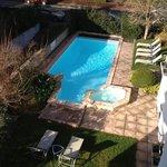 piscine chauffée vu de la chambre 305