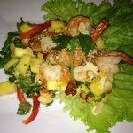 salade ananas poulet crevettes