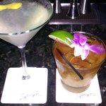 drinks, show me love and mai tai