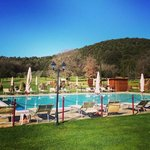 The pool at Casolare le Terre Rosse