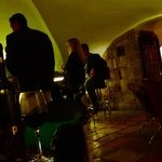 the cellar bar, a favourite haunt of journalists and writers frequenting jerusalem