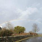 Rainbow over the hotel