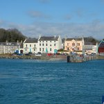 View of Portaferry taken on board the ferry from Strangford