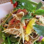 Must try green mango salad !