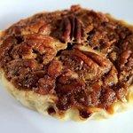 Bourbon pecan tart for dessert
