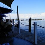 View from our table toward Estero Bay