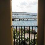 Uitkijkje vanaf terras 101A naar Seaquarium