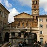 Piazza next to Villa della Fonte