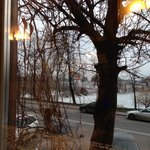 the view on the Novodevichy Convent from the restaurant
