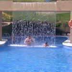 una de las piscinas con chorros