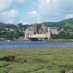 Looking towards Conwy Castle