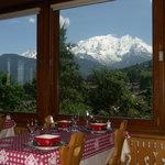 le Mont-Blanc depuis le restaurant