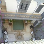 View from roof terrace to centre of riad