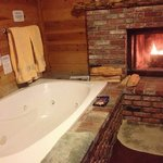 In room jacuzzi tub for two.