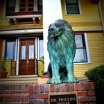 Lions at entrance to Dr. Phillips House